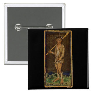 The Fool Tarot Card 15 Cm Square Badge