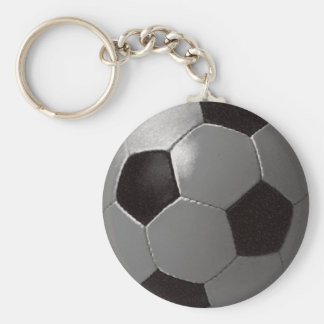 The football game basic round button key ring