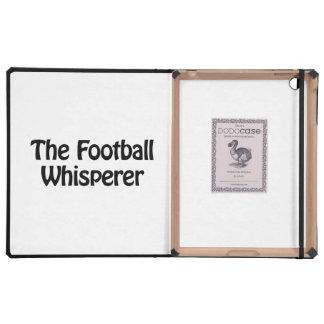 the football whisperer iPad folio case