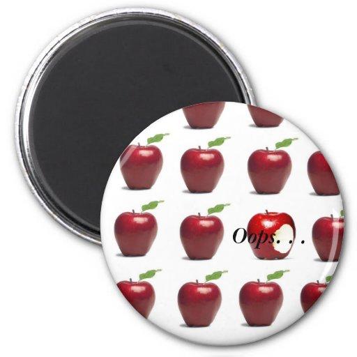 the forbidden fruit refrigerator magnets