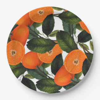 The forbidden orange paper plate 9 inch 9 inch paper plate