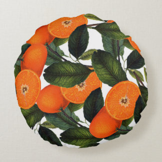 The forbidden orange rounded pillow