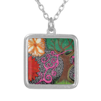 The Forest of Eternal Possibility Silver Plated Necklace