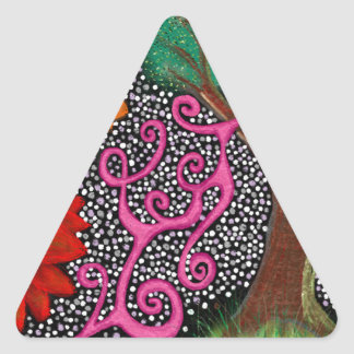 The Forest of Eternal Possibility Triangle Sticker