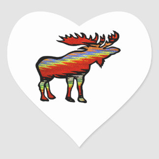 THE FOREST PROVIDES HEART STICKER