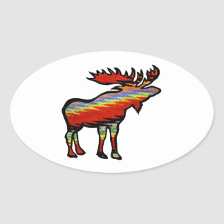 THE FOREST PROVIDES OVAL STICKER