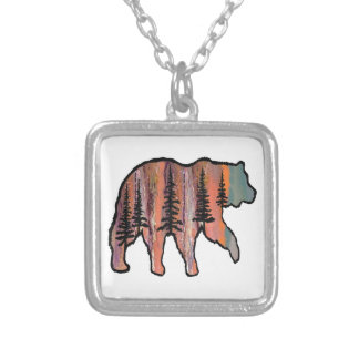 THE FOREST REVEALED SILVER PLATED NECKLACE