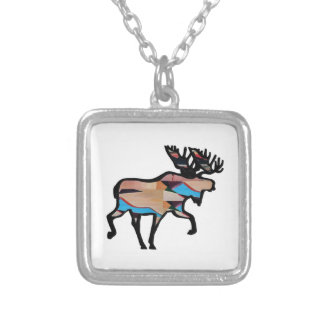 THE FOREST VISION SILVER PLATED NECKLACE