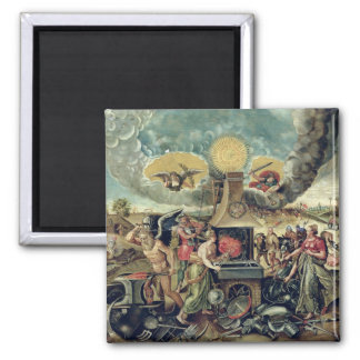 The Forges of Vulcan with Time Turning Weapons Square Magnet