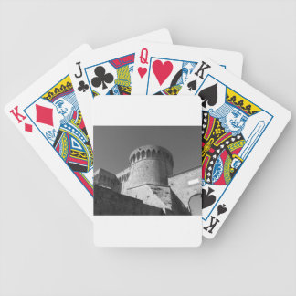 The Fortezza Medicea of Volterra . Tuscany, Italy Bicycle Playing Cards