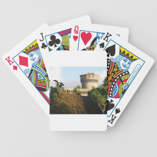 The Fortezza Medicea of Volterra, Tuscany, Italy Bicycle Playing Cards