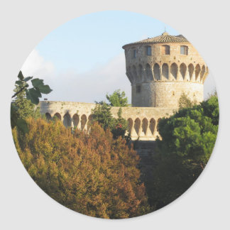 The Fortezza Medicea of Volterra, Tuscany, Italy Classic Round Sticker