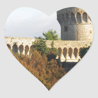 The Fortezza Medicea of Volterra, Tuscany, Italy Heart Sticker