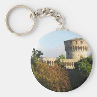 The Fortezza Medicea of Volterra, Tuscany, Italy Key Ring