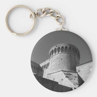 The Fortezza Medicea of Volterra . Tuscany, Italy Key Ring