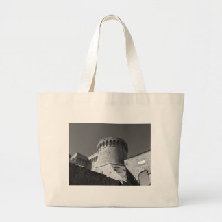 The Fortezza Medicea of Volterra . Tuscany, Italy Large Tote Bag