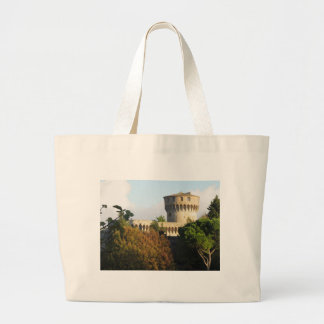 The Fortezza Medicea of Volterra, Tuscany, Italy Large Tote Bag
