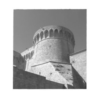 The Fortezza Medicea of Volterra . Tuscany, Italy Notepad
