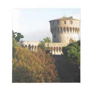 The Fortezza Medicea of Volterra, Tuscany, Italy Notepad