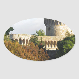The Fortezza Medicea of Volterra, Tuscany, Italy Oval Sticker