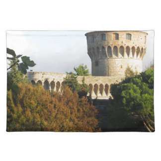 The Fortezza Medicea of Volterra, Tuscany, Italy Placemat