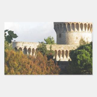 The Fortezza Medicea of Volterra, Tuscany, Italy Rectangular Sticker