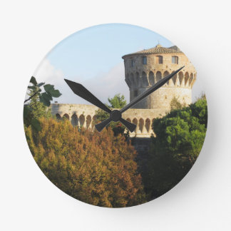 The Fortezza Medicea of Volterra, Tuscany, Italy Round Clock
