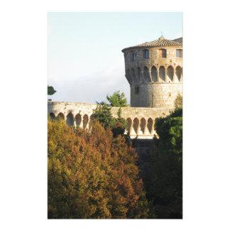 The Fortezza Medicea of Volterra, Tuscany, Italy Stationery
