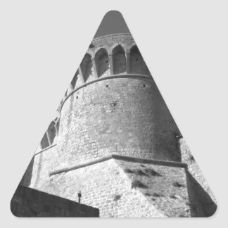 The Fortezza Medicea of Volterra . Tuscany, Italy Triangle Sticker