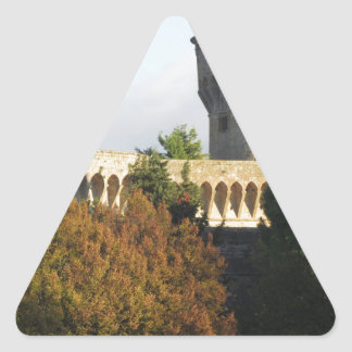 The Fortezza Medicea of Volterra, Tuscany, Italy Triangle Sticker