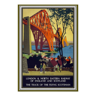 The Forth Bridge Vintage Travel Poster