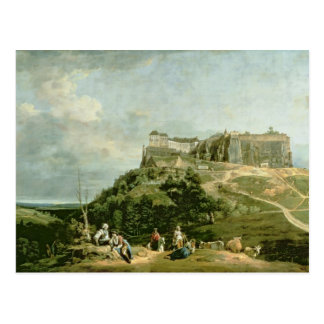 The Fortress of Konigstein, 18th century Postcard