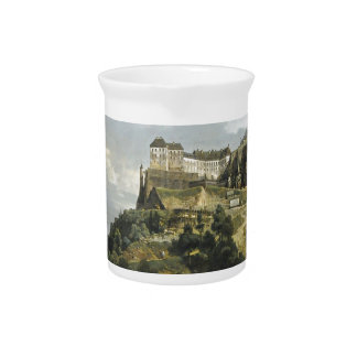 The Fortress of Konigstein by Bernardo Bellotto Pitchers