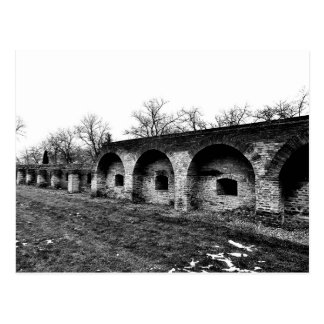 The Fortress Wall - Monochrome Postcard