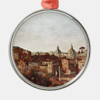 The Forum seen from the Farnese Gardens, Rome Metal Ornament