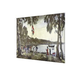 The Founding of Australia by Capt. Arthur Canvas Print