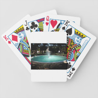 The fountain bicycle playing cards