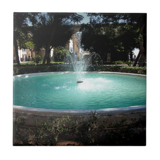 The fountain ceramic tile