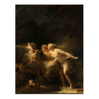 The Fountain of Love by Jean-Honore Fragonard Postcard