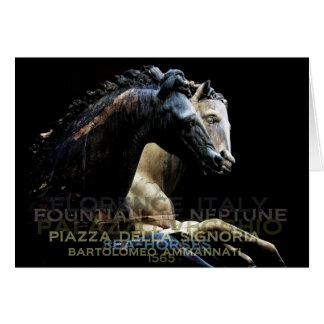 The Fountain of Neptune -Sea-horses Card