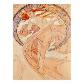 The Four Arts - Dance, Art Nouveau Postcard