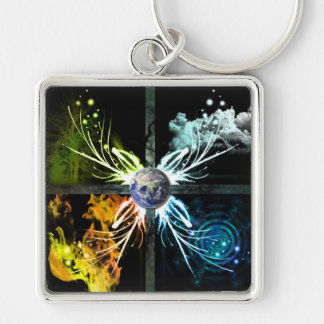 The Four Elements Key Ring