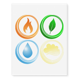 The Four Elements Temporary Tattoos
