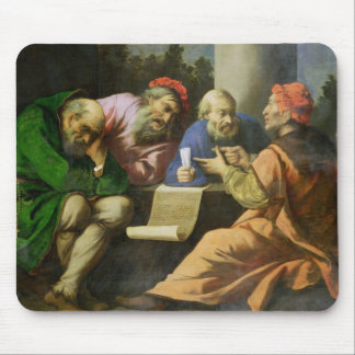 The Four Fathers of the Church (oil on canvas laid Mouse Pad