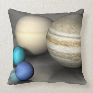 The Four Largest Planets Throw Pillow