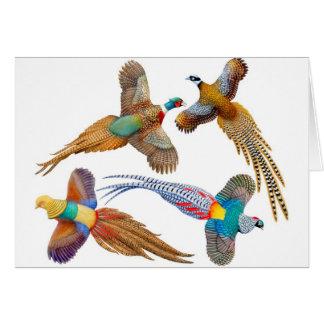 The Four Pheasants Card