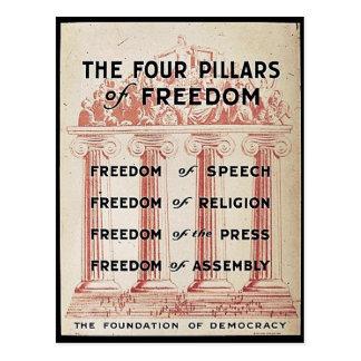 The Four Pillars Of Freedom Postcard