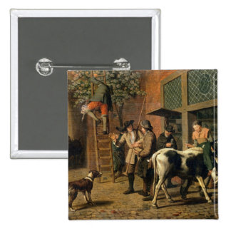 The Four Seasons, Autumn (oil on canvas) (see 1667 15 Cm Square Badge