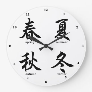The Four Seasons, Japanese Kanji Large Clock