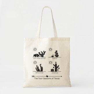 The Four Seasons of Texas - Black - Tote Bag